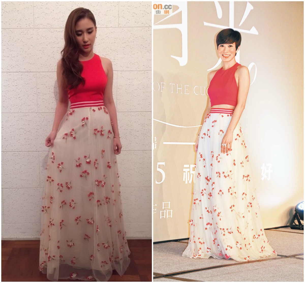 Alice and Olivia Floral Maxi Skirt: Charmaine Sheh vs. Laurinda Ho