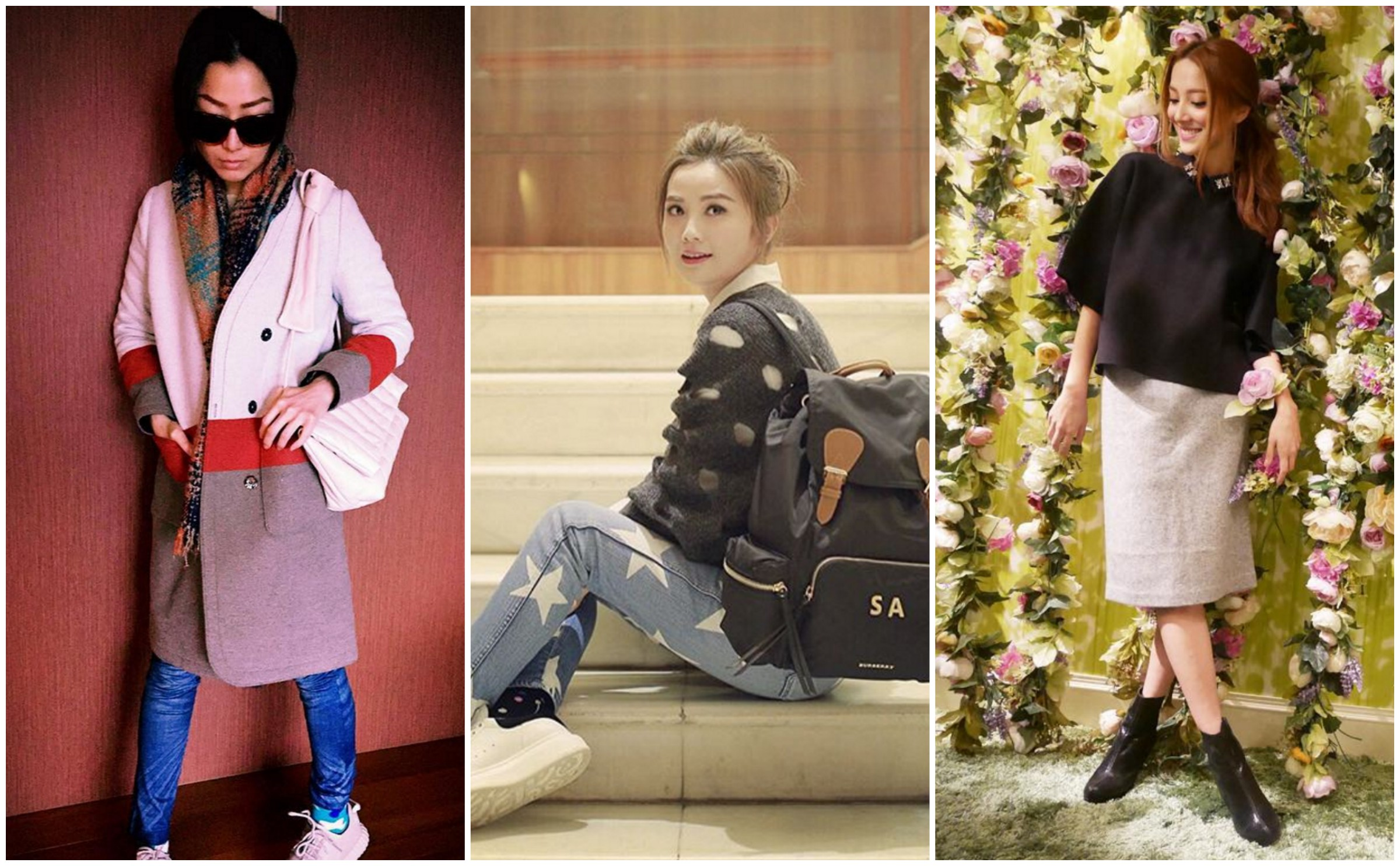 Hong Kong Celebrity Street Style Sammi Cheng Charlene Choi Grace Chan Asian Fashionistas