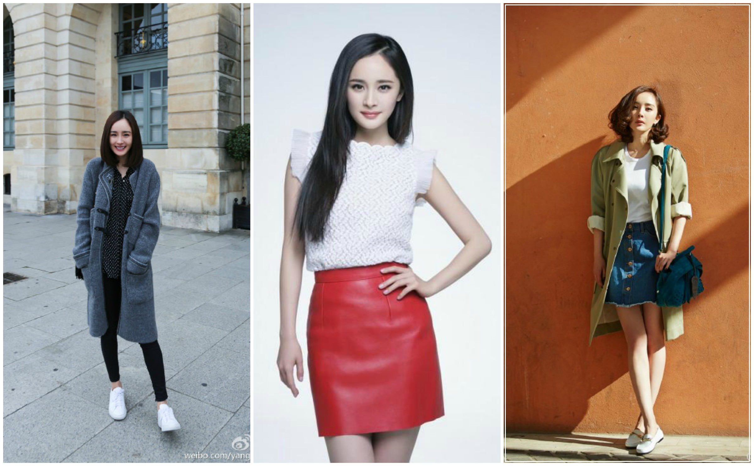 Chinese celebrity street style 3 styles inspired by yang Fashion celebrity street style