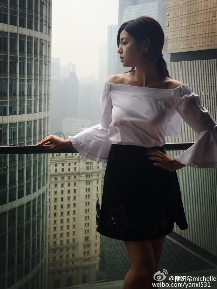 MichelleChen_Bell-sleeveTop_NavySkirt
