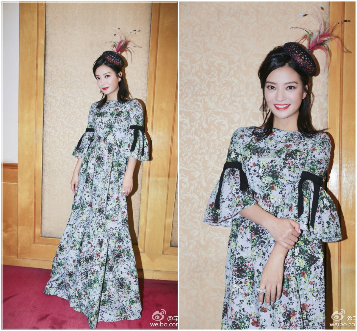 Designer Look for Less: Vicki Zhao in Erdem's Bell-Sleeve Blue Floral Maxi