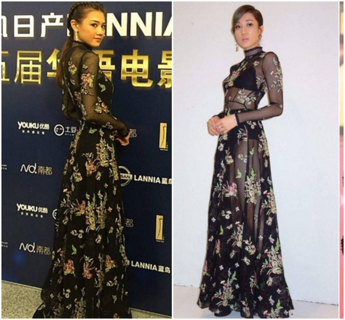 Who Styled Vivienne Tam's Floral Mesh Dress Tastefully? Chrissie Chau vs. Linda Chung