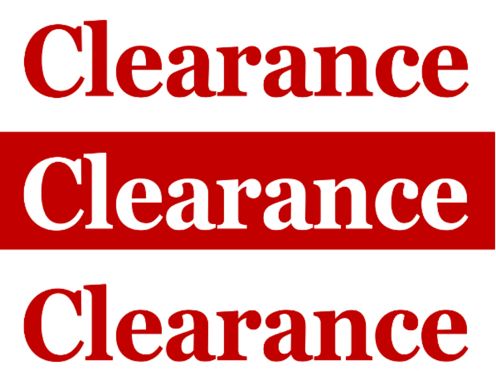 3 times clearance