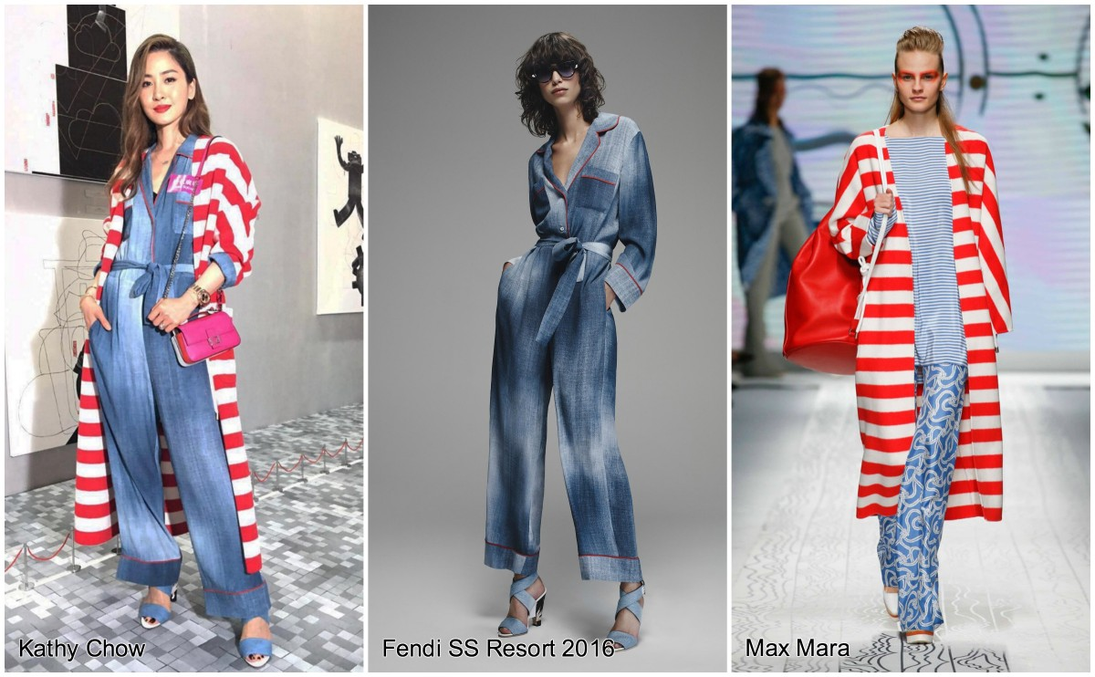 Kathy Chow in Fendi & Max Mara: Unintentionally Patriotic